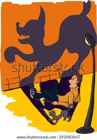 illustration. fright - stock photo