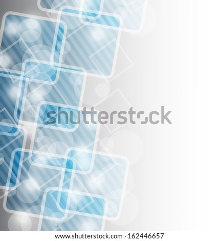Illustration green business card, abstract background - raster - stock photo