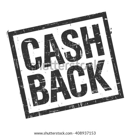 illustration - grunge stamp with text cash back on white background  - stock photo