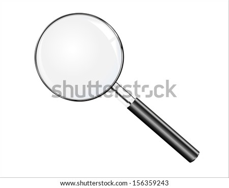 Illustration magnifying glass - stock photo
