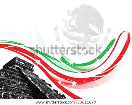 illustration mexico - stock photo