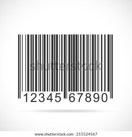 Illustration of a barcode isolated on a white background. - stock photo