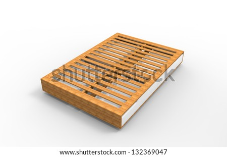 Illustration of a bed - stock photo
