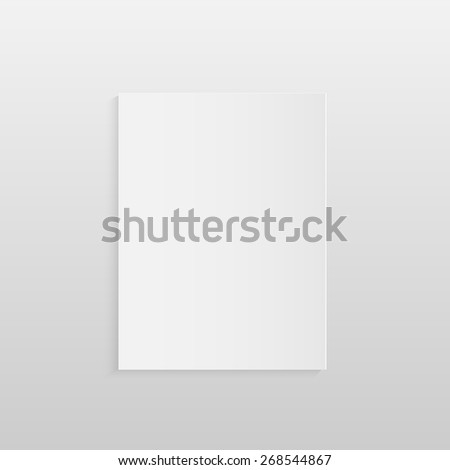 Illustration of a blank piece of paper isolated on a light background. - stock photo