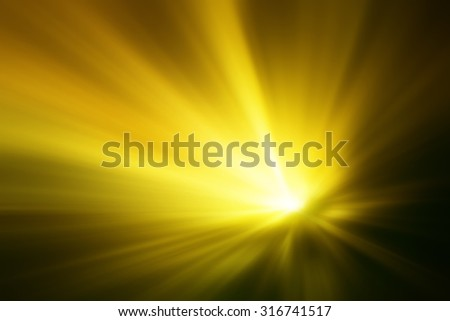 Illustration of a burning sun, or star and beautiful rays of light - stock photo
