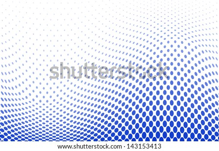 illustration of a dotted halftone background - stock photo
