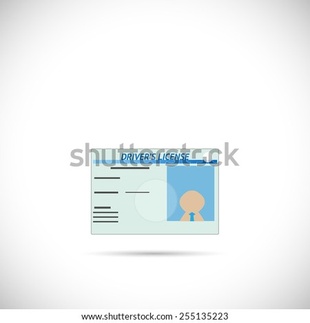 Illustration of a driver's license isolated on a white background. - stock photo