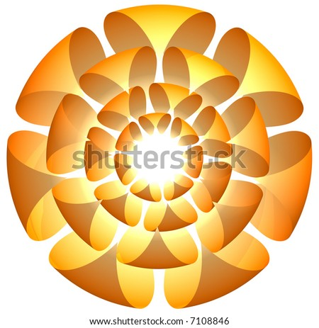 Illustration of a flora concept for logos or designs - stock photo