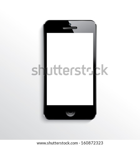 illustration of a mobile phone black.(rasterized version) - stock photo