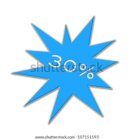 Illustration of a price tag with figure and percent - stock photo