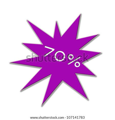 Illustration of a price tag with number and percent - stock photo