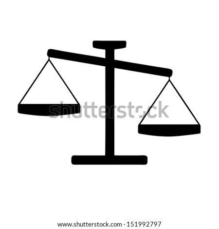 Illustration of a scales icon - stock photo