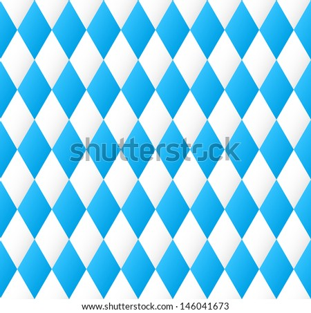 illustration of a seamless diamond pattern in blue and white  - stock photo