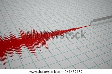 Illustration of a Seismometer machine - stock photo