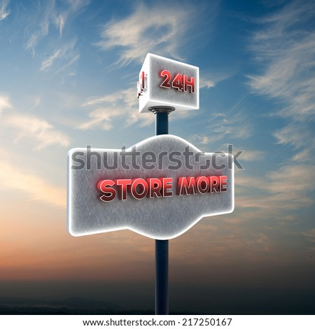 illustration of a self storage sign  - stock photo