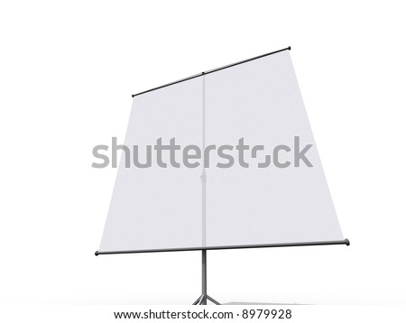 Illustration of a tripod projection screen - stock photo