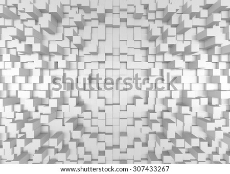 Illustration of abstract mosaic 3d gold background  - stock photo