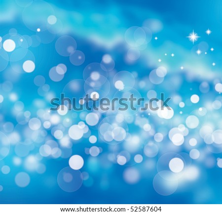 Illustration of abstract underwater bubbles - stock photo