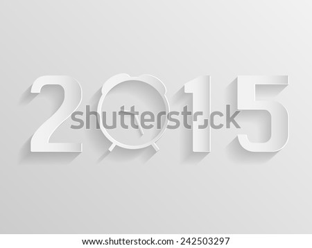 Illustration of an abstract clock with the year 2015. - stock photo