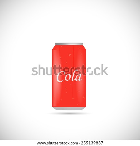 Illustration of an aluminum cola can isolated on a white background. - stock photo