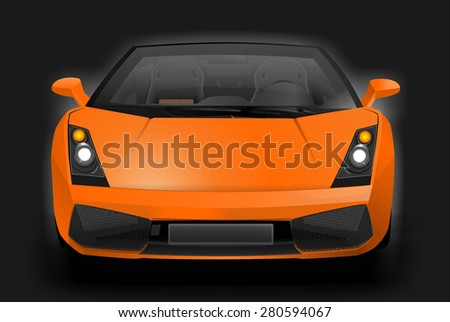 Illustration of an exotic sports car. European super sport vehicle. Graphic design. - stock photo
