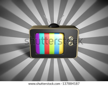 Illustration of an old fashioned television - stock photo