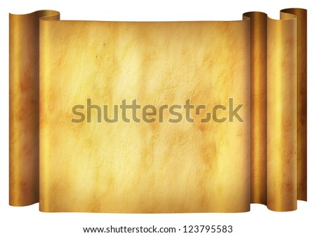 Illustration of an old parchment banner. - stock photo