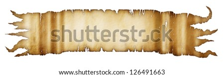 Illustration of ancient parchment. - stock photo