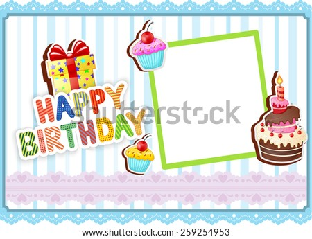 Illustration of Birthday card - stock photo