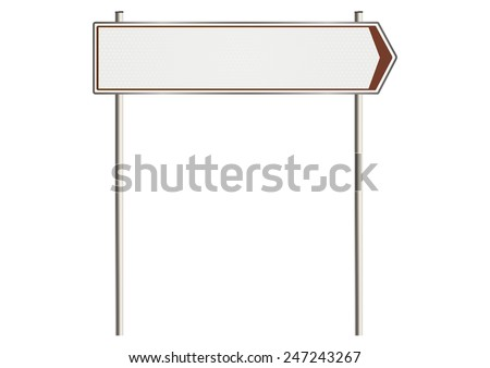 Illustration of blank road sign. Plenty of space for any text. Raster.  - stock photo