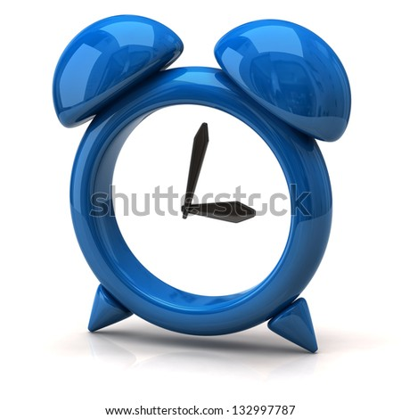 Illustration of blue clock - stock photo