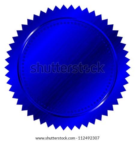 illustration of blue seal - stock photo