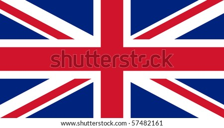 Illustration of British Union Jack national country flag. - stock photo