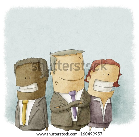 Illustration of business people - stock photo
