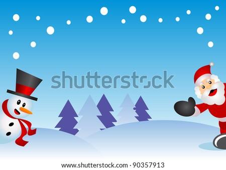 illustration of christmas background - stock photo
