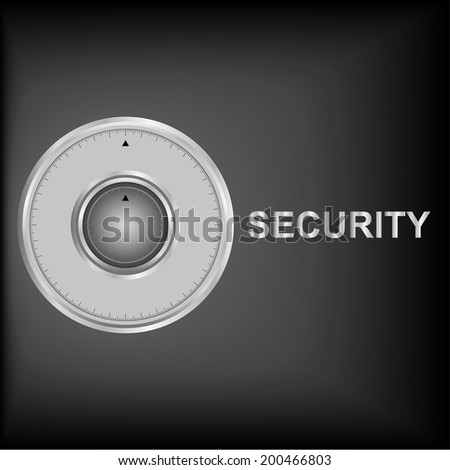 illustration of combination lock on security background - stock photo