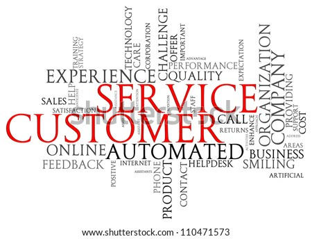 Illustration of customer service words tags - stock photo
