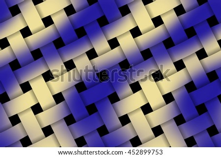 Illustration of dark blue and vanilla weaved pattern - stock photo