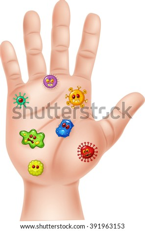 Illustration of Dirty hand on white background - stock photo