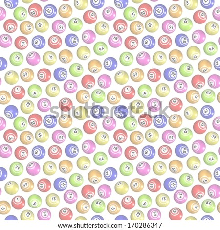 Illustration of faint seamless bingo balls - stock photo