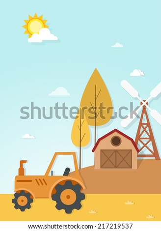 illustration of farm landscape scene vector EPS vector version id 193373366.format also available in my portfolio - stock photo