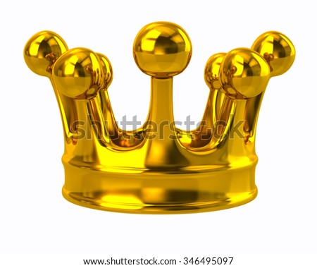 Illustration of gold crown - stock photo