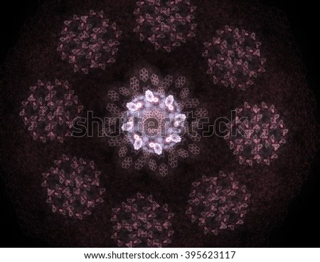 Illustration of Gold glittering star dust circle - stock photo