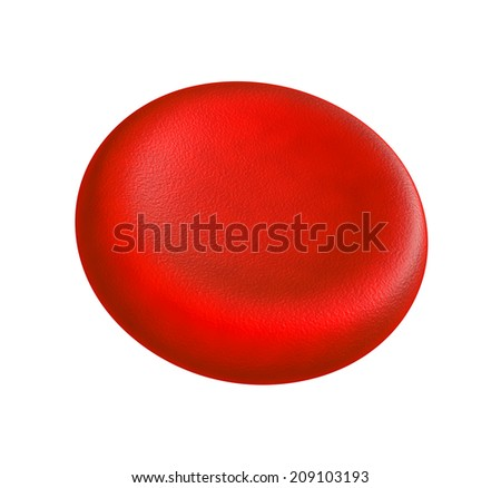 Illustration of human blood cell - isolated on white  - stock photo