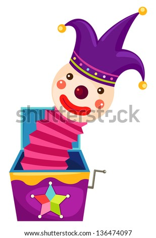 illustration of isolated Jack in the box on white background (EPS vector version id 133591571,format also available in my portfolio) - stock photo