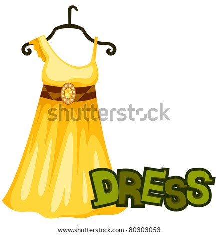 illustration of isolated letter of  dress on white  background - stock photo