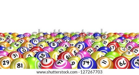 Illustration of lots of Bingo balls - stock photo