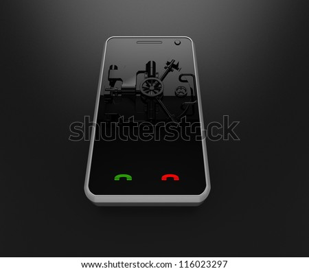 illustration of mobile phone - stock photo