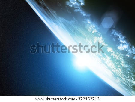 Illustration of planet earth as seen from space. - stock photo