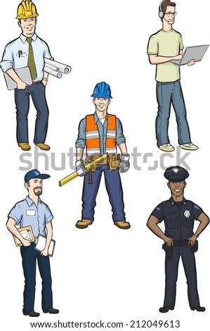 illustration of professional men - stock photo